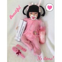 Bebe Reborn Menina Barata Linda 16 Ítens