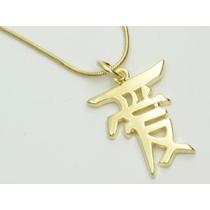 Pingente Ideograma Japonês Amor , 2,5 Ouro Rommanel
