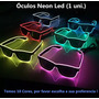 Óculos Neon Led  Festa Balada Dj Rave Tomorrowland A Pilha