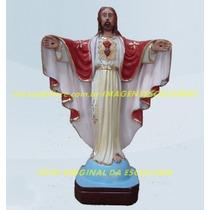 Escultura Jesus Cristo Redentor Linda Imagem 30cm Promoção