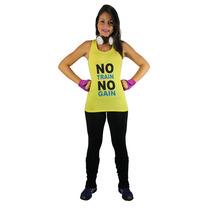 Camiseta Regata Sobre Legging Feminina Furadinha Academia