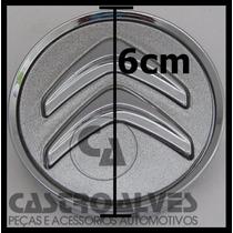 Calota Tampa Centro Roda Citroen C3 C4 Aircross Prata = 1 Pç