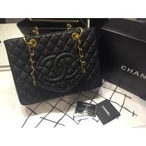 b397fabc8 Bolsa Chanel Shopper Gst Couro Caviar Ou Lambskin Na Caixa à venda ...