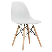 Cadeira Em Abs Design Charles Eames Wood Dsw Eiffel Branca