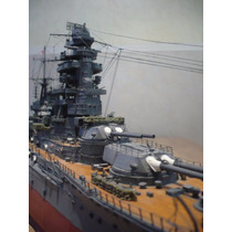 Majestoso Papercraft Do Encouraçado Japonês Ijn Nagato 1:200