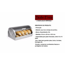 Porta Pão Aço Inox, Pronta Entrega, Sale Free Loja.