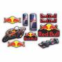 Cartela Adesivo Sticker Automotivo Red Bull Resinado