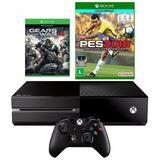 Xbox One 500gb + Pes 2018 + Controle Wireless