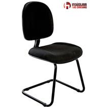 Cadeira Escritório Fixa Escritório At20- Preta - J.serrano