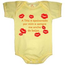 Body E Camiseta Infantil Com Frases Divertidas