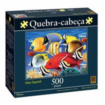 Brinquedo Quebra Cabeça Puzzle 500 Peças Peixes