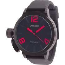 Relógio Masculino Esportivo Oversized Alpha 49mm (dark+red)