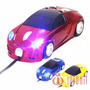 Mouse Pc Gamer Carro Bugatti Vermelho Fio Usb Com Leds