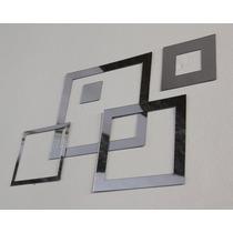 Espelho Decorativo Quadrados / Quadros Em Acrílico Espelhado