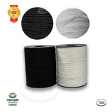 Elastico Roliço Macio Rolo 100 Metros 3mm 1 Branco+ 1 Preto