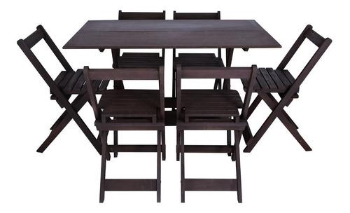Conjunto Dobrável Mesa 120 Com 6 Cadeiras Super Promoção!!!