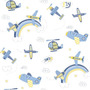 Papel De Parede Coleção Bambinos Azul Branco Aviões 3306