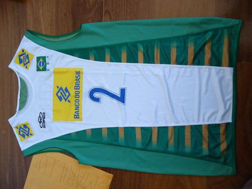 Camisa Jogo Marcelinho De Volei Brasil Selecao Brasileira f1566a65530b2