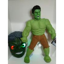Kit Boneco Hulk Com Mascara De Luz E Par De Luvas .