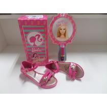 Tamanco Infantil Barbie Lipstick Grendene + Batom