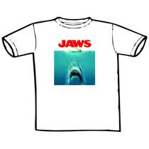 Camiseta Filme Tubarão Jaws Estampas Exclusivas!