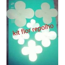 Moldes Fuxico: Flor Repolho,camélia 8 Pétalas+flor N°1