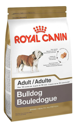 Ração Royal Canin Breed Health Nutrition Bulldog Para Cachorro Adulto Da Raça Média Sabor Mix Em Saco De 12kg