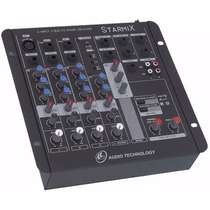 Mesa Som Mixer Starmix Ll Audio Usfx402 4 Ch Usb + Efeito