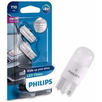 Lampada Led Philips T10 5500k Lanterna Farolete Luz De Placa