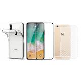 Capa iPhone + Película Nano Gel 5d Flexível + Fibra Traseira