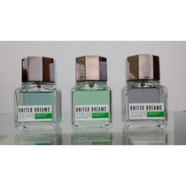 Kit Perfumes Benetton United Masculinos De 95-98% Cheios