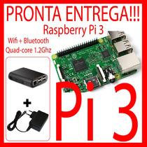 Kit Raspberry Pi 3 (pi3) Quadcore + Case + Fonte. Pronta Ent