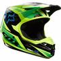 Capacete Fox V1 Race - Verde 56 - Mx Parts