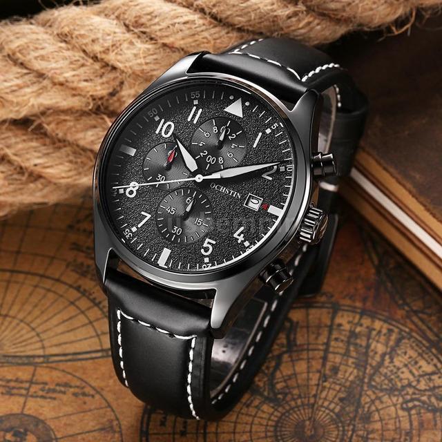 79539f52d3f Relógio Ochstin Pulseira Couro Luxo Caixa P  Presente em Congonhas ...