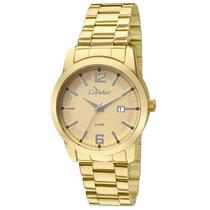 Relógio Masculino Analógico Condor Co2115ux 4d - Dourado