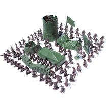 100 Soldados De Plástico - Brinquedo - Guerra - Policia