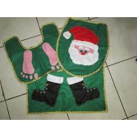 Tapetes Natal - Banheiro - Papai Noel - Decoração Natalina