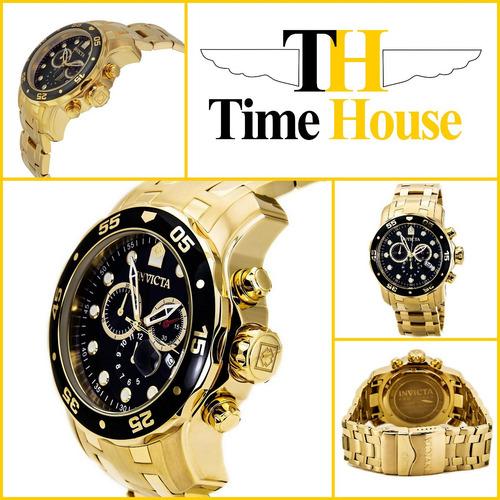 faa229b4ee8 Relógio Invicta Pro Diver 0072 100% Original Banhadoouro18k