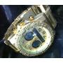 Relogio Atlantis A3228 Original Dourado Metal Lindo Grande