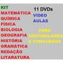 Kit 11 Dvds Vídeo Aulas Para Vestibulares E Concursos Ç1t