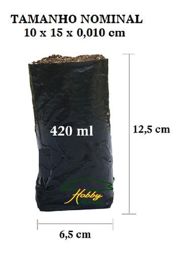 Saquinho Saco Plástico Para Mudas - 10 X 15 X 0,10 - 1000 Ud