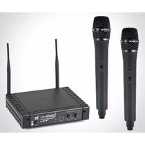 Microfone Tsi Ud 1000 S/fio Duplo Mão Uhf Sound Store