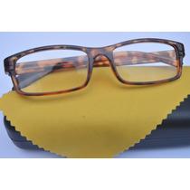 2 Óculos Grau Quadrado Unisses Colorido Fem Masc +2,5
