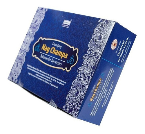 Incenso Massala Nag Champa Darshan 25cx De 15gramas- Full