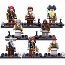 Kit 8 Mini Bonecos Piratas Do Caribe, Action Figure.