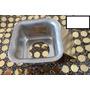 Forminha Mini Pão De Mel Quadrado Fundo Falso Em Aluminio