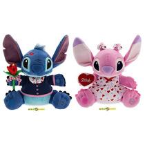 Stitch E Angel Pelucia 30 Centímetros Original Disney Store