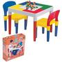 Mesa Mesinha Infantil Atividades C/ Blocos De Montar Belltoy
