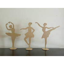 Kit 15 Bailarinas Mdf 25cm Decoração Mesa Festa Lembrancinha