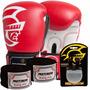 Kit Boxe Training Pretorian -16 Oz Vermelho